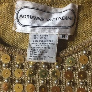 Adrienne Vittadini Sweaters - Adrienne Vittadini gold sequined sweater, size M